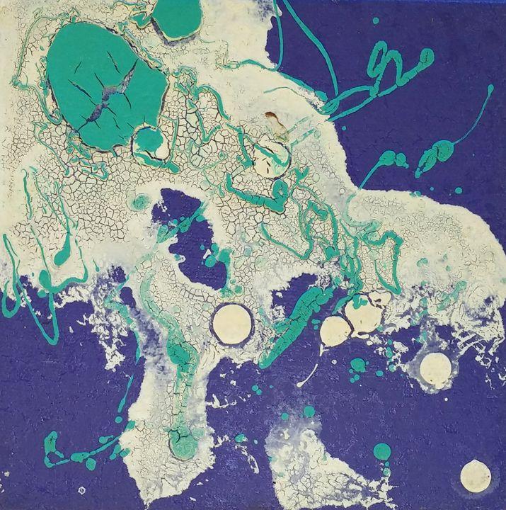 Nebula painted with crackle-glazes # - iGallery