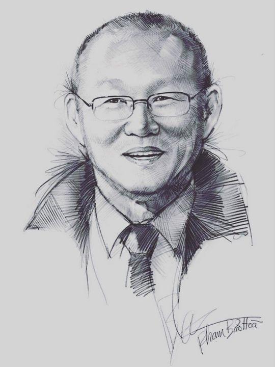 Portrait Of Coach Park Hang Seo - Phạm Bảo Hòa