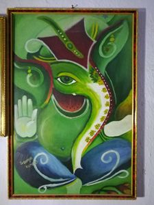 Ganesha oil paint