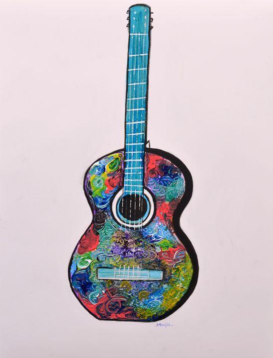 Guitar I from Series Rock On Modern - artbymanjiri