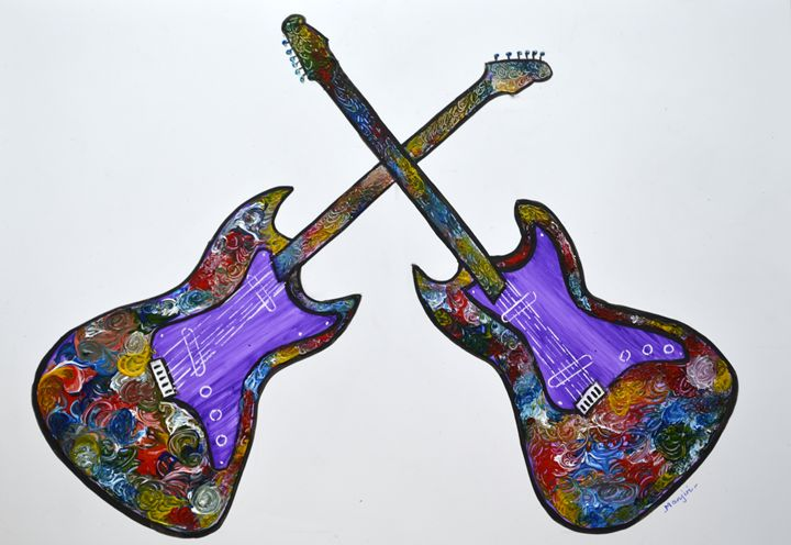 Guitar II from Series Rock On Modern - artbymanjiri