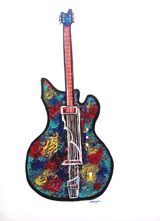 Guitar III from Series Rock On Pop - artbymanjiri