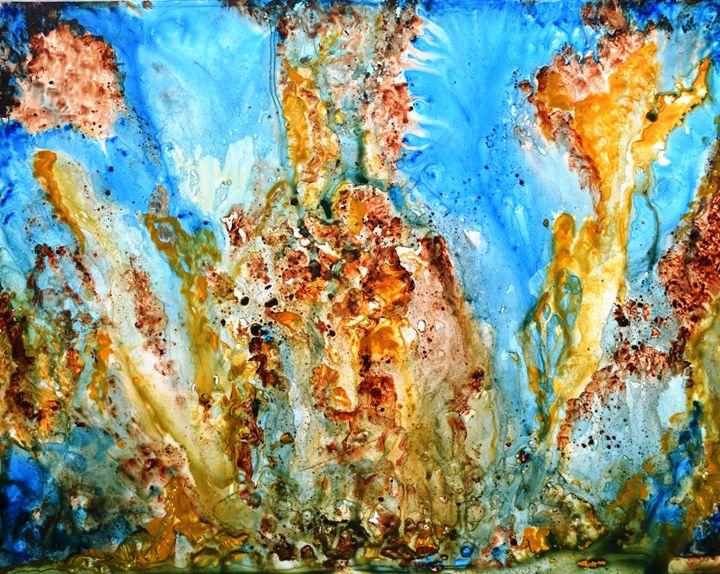 Rhapsody abstract colorful painting - artbymanjiri