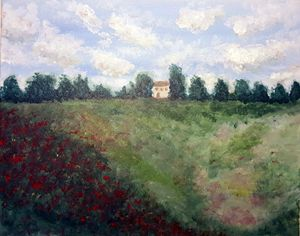 """Inspired by Monet """"Poppies"""""""