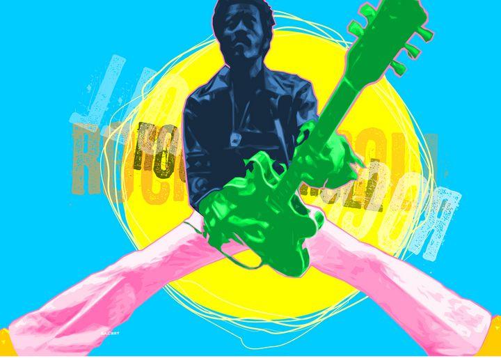 Pop Art Chuck Berry - Zelko Radic Bfvrp