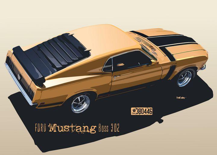 Ford Mustang Boss - Zelko Radic Bfvrp