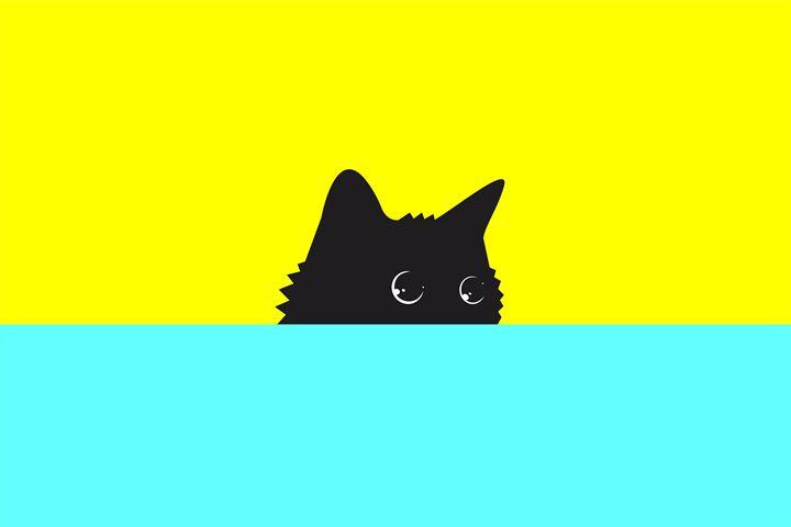 Cat on Yellow - Zelko Radic Bfvrp