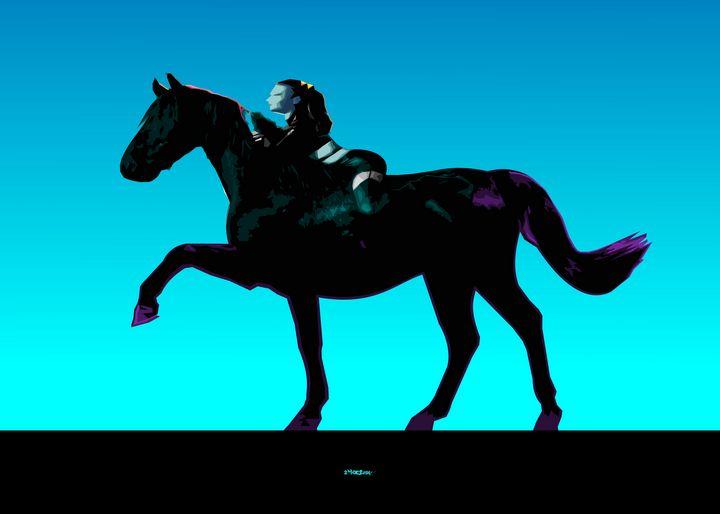 Lady on the Horse - Zelko Radic Bfvrp