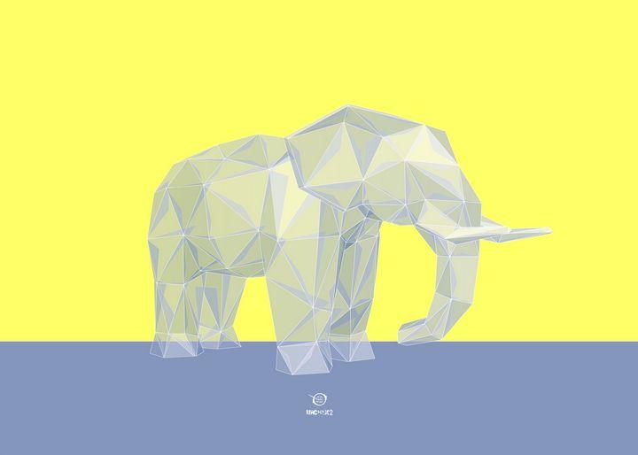 Geometric Elephant - Zelko Radic Bfvrp