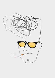 Unknown Man Portrait With Cigarette