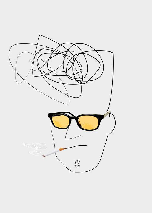 Unknown Man Portrait With Cigarette - Zelko Radic Bfvrp