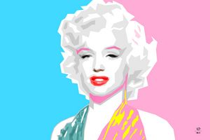 Merilyn Monroe Pop Art Portrait