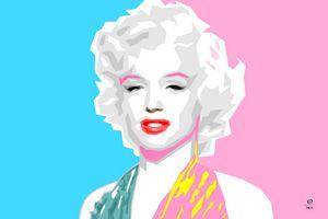 Merilyn Monroe Pop Art Portrait