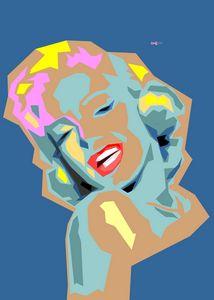 Geometric Pop Art Marilyn