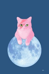 Bowie Cat on the Moon