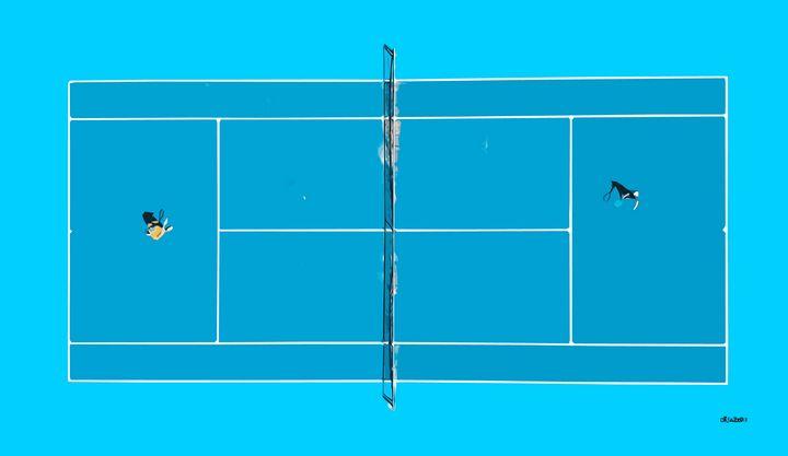 Blue Tennis Court - Zelko Radic Bfvrp