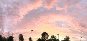 Heaven-lit work sky