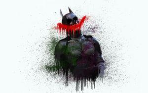 Batman The Dark knight Paint Drip