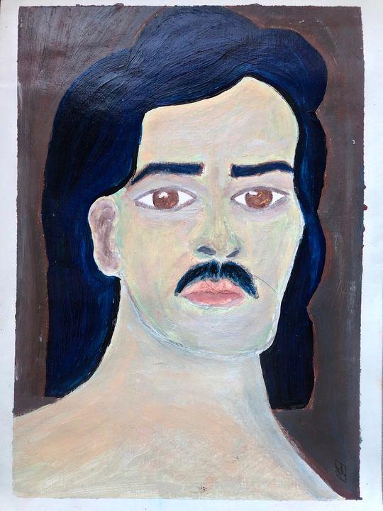man with mustache - Anastasia Merris