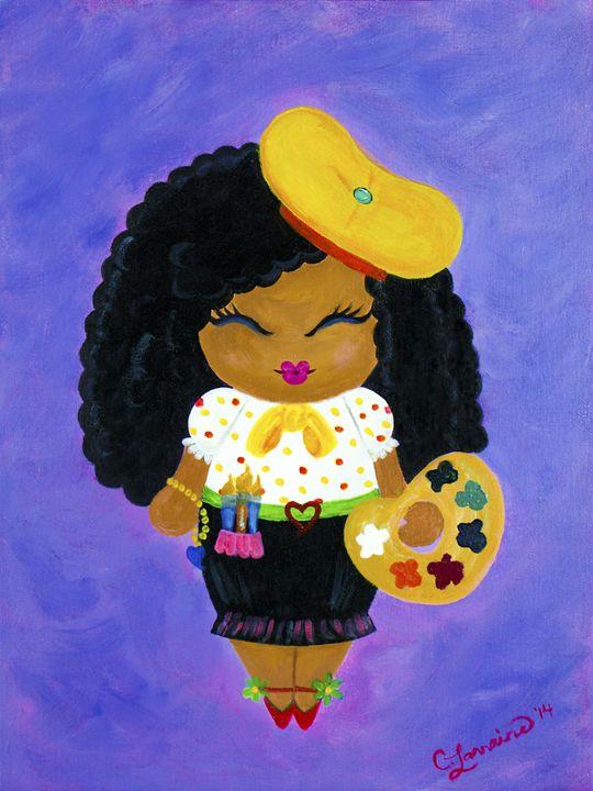 Swanky Artist Chick - Kokeshi-Mi Art Collection