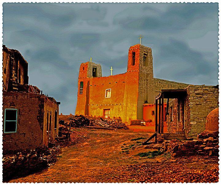 Sunset  Church - holyhollys
