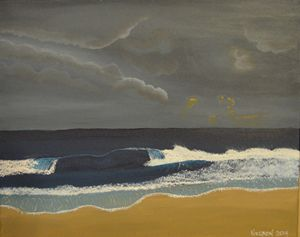 A Stormy Beach Morning