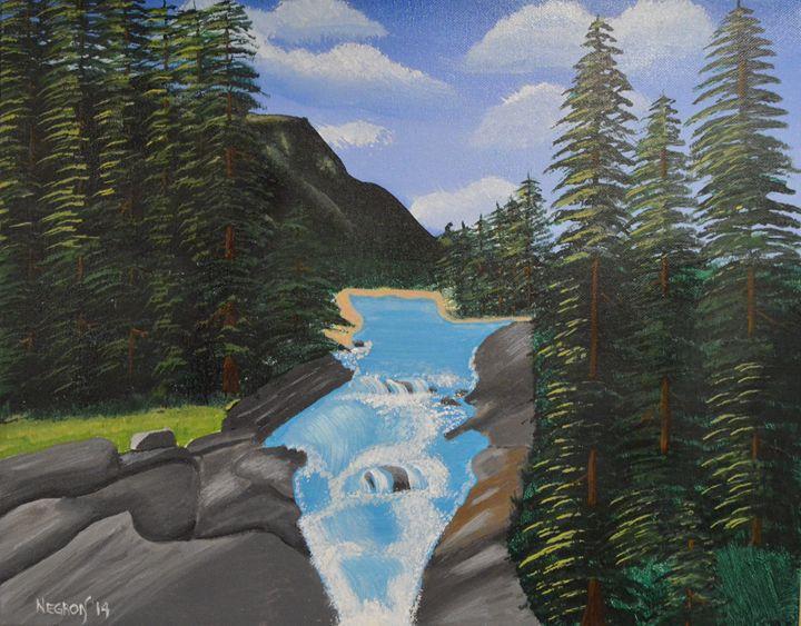 Waterfall Forest - Her Artwork From The Desert