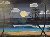 12x16 Tropical beach painting