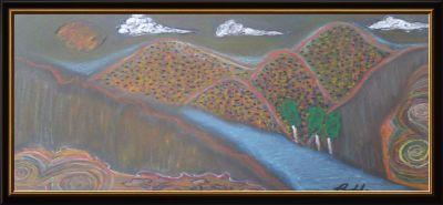 "Framed River ""Sangre De Cristo"" - Hastick Gallery"
