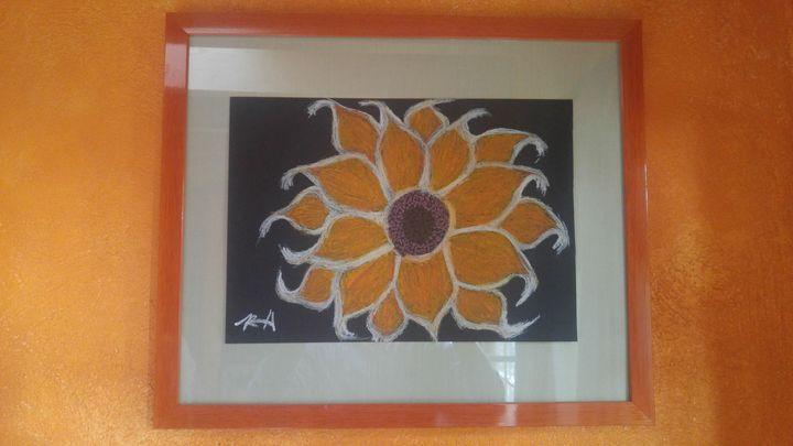 Chilli Sunflower Framed - Hastick Gallery