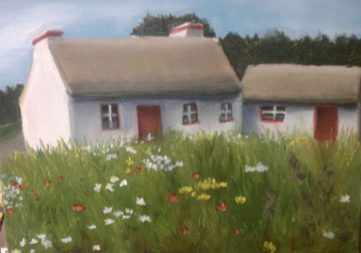 Cottage in flowers - Kate S