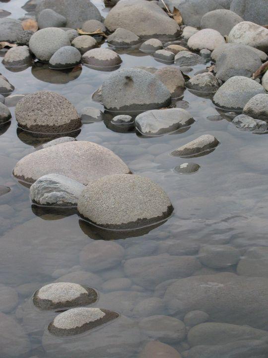 Pebbles in the River - Kodiak Prints