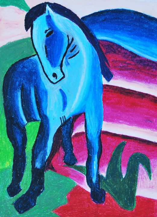 The Blue Horse - James Knights Art