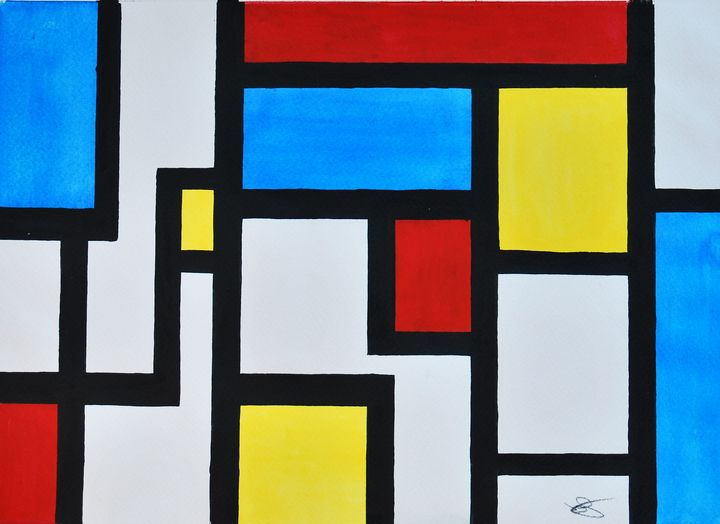 Tribute to Mondrian I - James Knights Art