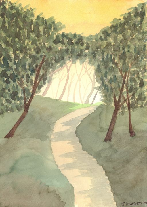 A Walk in the Woods - James Knights Art