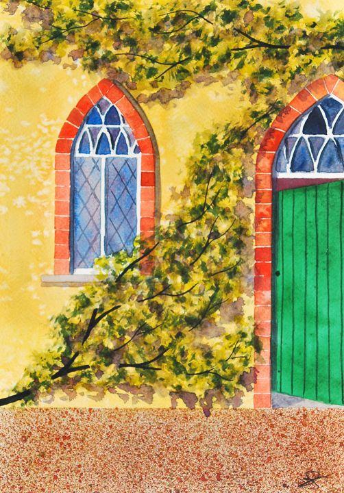 The Green Door - James Knights Art