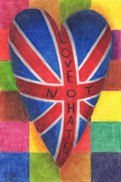 Love not Hate - James Knights Art