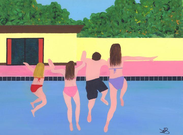Splash! Family Holiday - James Knights Art