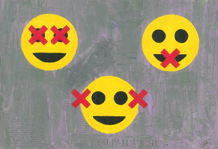 The Three Wise Emojies - James Knights Art