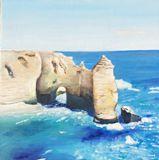 White Cliffs oil on canvas 25x25cm