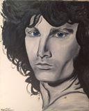 Jim Morrison portrait oil on canvas.