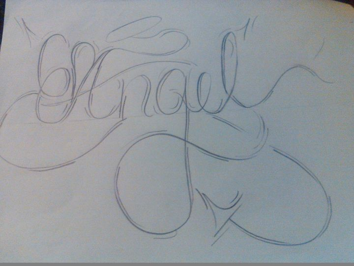 angels with a twist - Cursive names by nina