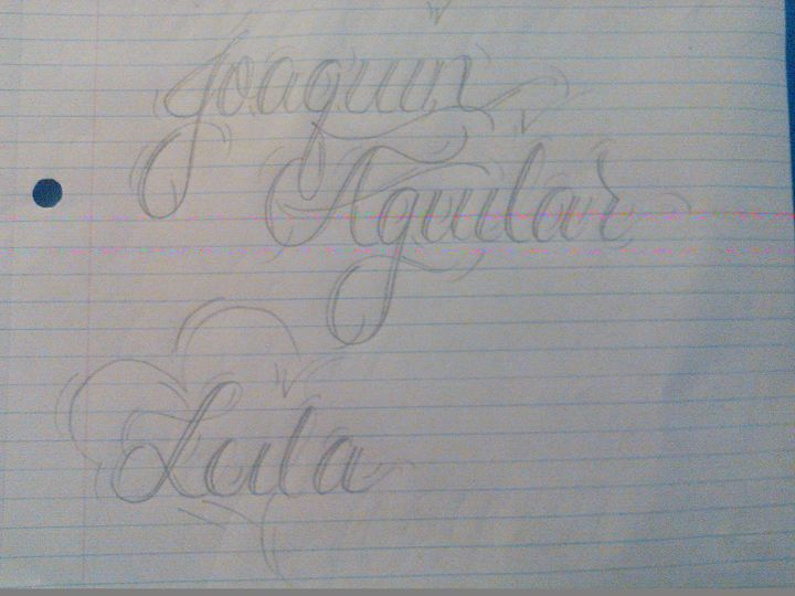 For my son and daughter - Cursive names by nina