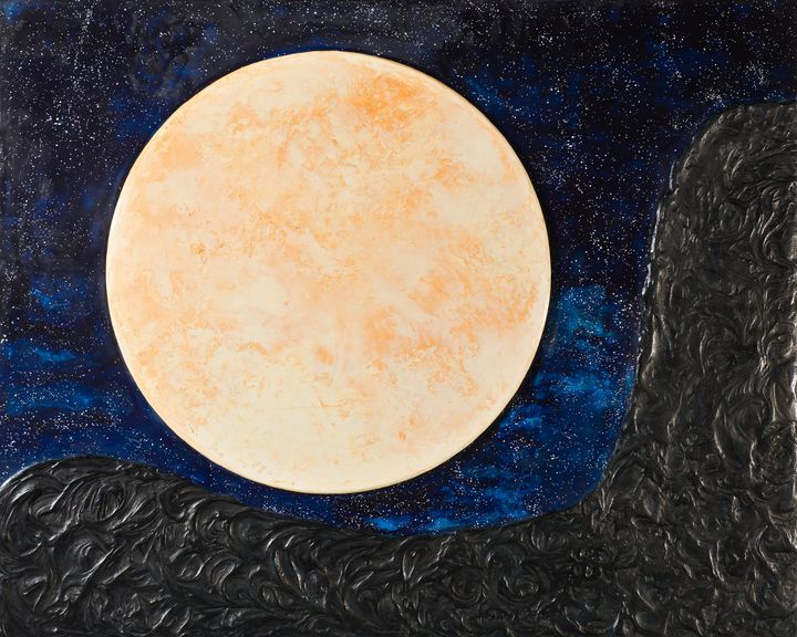 Luna - Moon Mixed Media - Evoke Art Studio