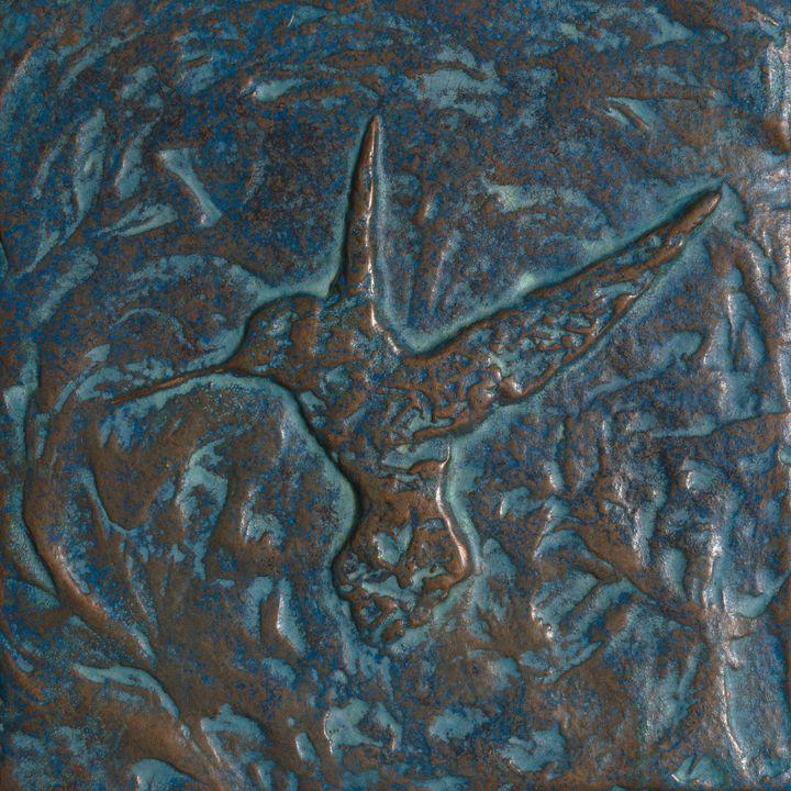Hummingbird - Patina - Evoke Art Studio