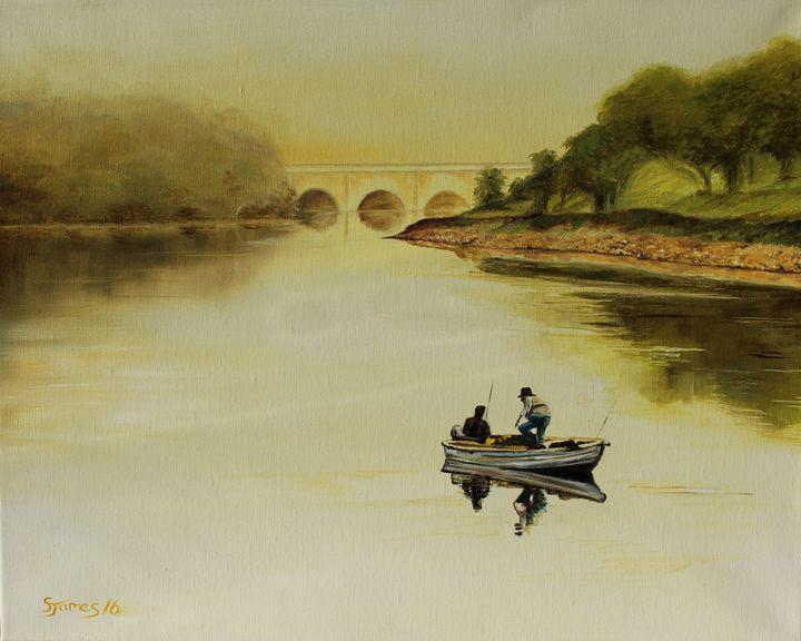 Early Morning Fishing on the Lake - Steve James