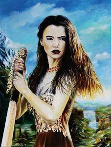 Goddess Freyja overlooking the Fólkv