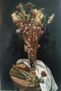 Gothic Still Life with Roses - William Andris Wood