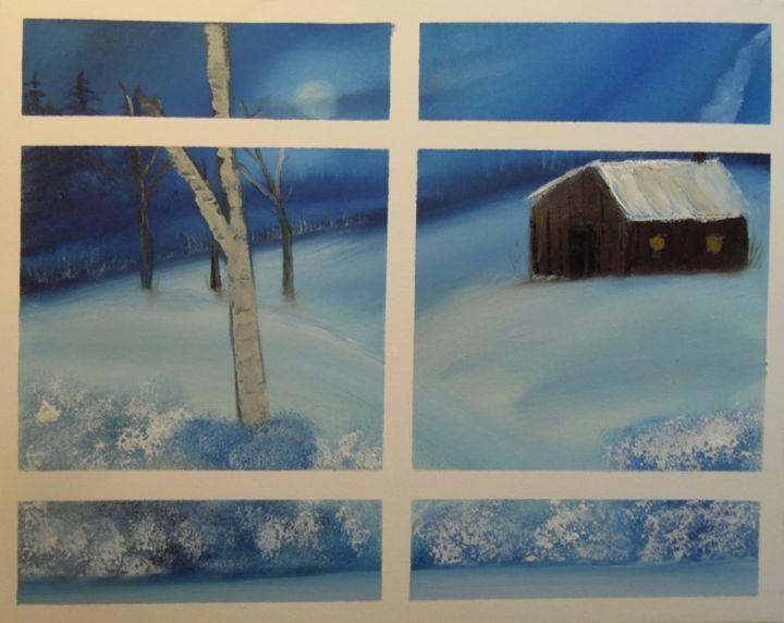 Winter Window - Poppy