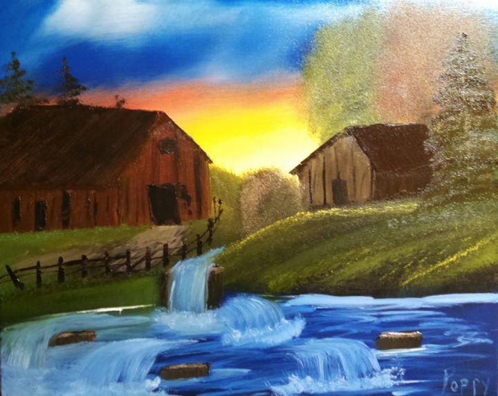 Sunrise on the Farm - Poppy